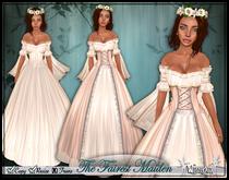 [Wishbox] The Fairest Maiden II (Cream) - Renaissance Role Play Gown/Dress! Medieval Fantasy
