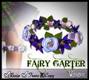 [Wishbox] Fairy Garter (Purple) - Perfect for Fae, Bridalwear and Weddings Medieval Fantasy