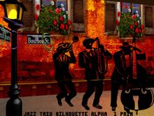 Mardi Gras Jazz Trio Silhouettes MOD/COPY