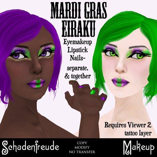 Schadenfreude Mardi Gras Eiraku Makeup