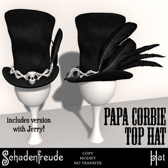 Schadenfreude Papa Corbeau Top Hat