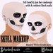 Schadenfreude Skull Makeup