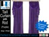 Purple Drapes with Rod - tall