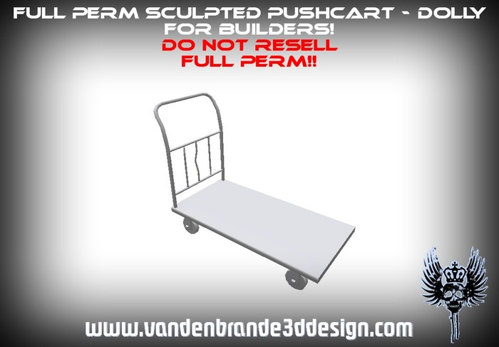 ~Full perm Sculpted moving dolly / hand truck + Maps!