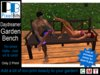 Daydreamer Garden Bench - animated poses! Only 2 prim!