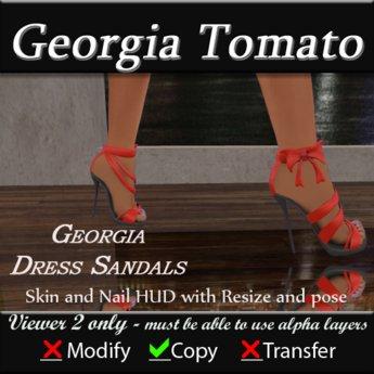 Georgia Sandal Heels - Red