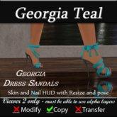 Georgia Sandal Heels - Teal
