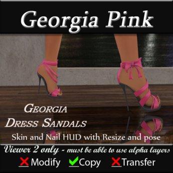 Georgia Sandal Heels - Pink