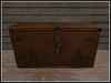 RE Old Wood Treasure Chest - One Prim - Vintage Trunk Decor/Decoration