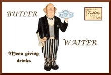 BARTENDER - WAITER Menu giving drinks