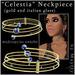 "Mayfly - ""Celestia"" Neckpiece (gold & italian glass)"