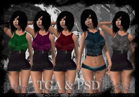 Second Life Marketplace Tgaddict Psd Full Perm Templates Stylish Designer Kit