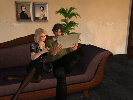 Dutchie mesh Biedermeier living room PG: sofa with 18 couple and 18 solo animations, chairs with 10 animations, 7 colors