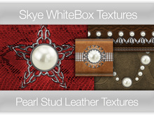 *Skye WhiteBox Textures  Big Value! 176 Pearl Stud Leather-  Full Perms Leather Textures