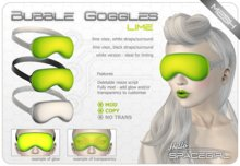 Hello Spacegirl - Bubble Goggles Lime (MESH)