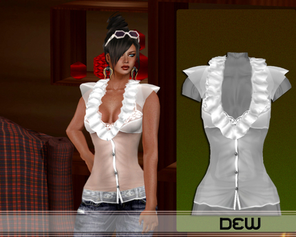 """""""DEW"""" OUTLET /Sissy shirt white"""