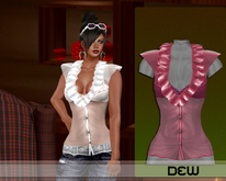 """DEW"" OUTLET /Sissy shirt pink"