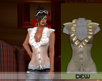 """DEW"" Sissy shirt cream"