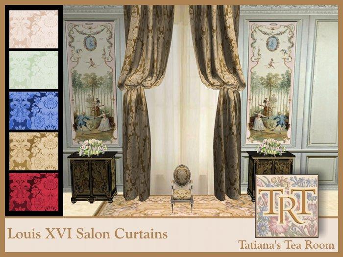 TTR-Louis XVI Salon Curtains