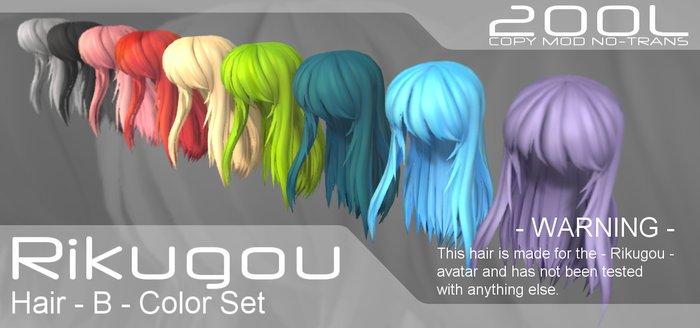 Rikugou hair B - all colors