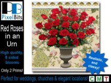 Elegant red roses. Copyable & ONLY 2 prims!