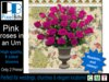 Beautiful pink roses. Copyable & ONLY 2 prims!
