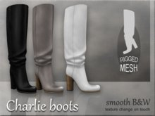Charlie boots - Smooth B&W