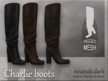 Charlie boots - Neutrals dark