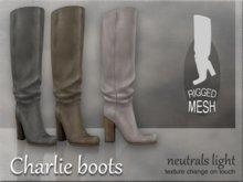 Charlie boots - Neutrals light