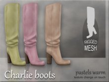 Charlie boots - Pastels warm