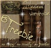 Medieval Wardrobe, Freebie!!!