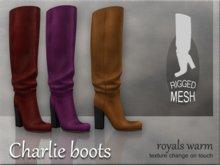 Charlie boots - Royals warm