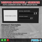 Visitor Counter / Greeter / Group Inviter / Landmark Giver