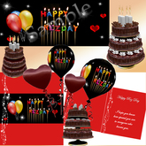Happy Rez Day Package, scripted chocolate cake - on/off candles, Rezday card, Rezz day baloons, Rezzday banner