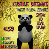 Speak No Evil Panda Bear TipJar