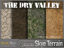 Skye Terrain Textures - The Dry Valley 54 x 2 Full Perms Terrain Textures