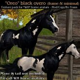 WH - Oreo - Black Overo Horse Texture Pack for Water Horse Avatars