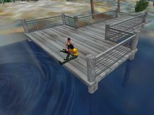 Boat Dock or Pier with Sit Animations