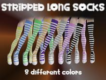 8 Stripped long socks *boxed*