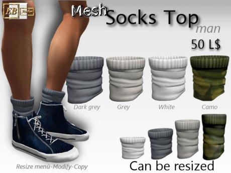 EB Atelier- 4 Mesh_Socks Top Man RESIZE & MODIFY - italian designer