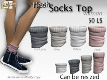 EB Atelier- 4 Mesh_Socks Top Woman RESIZE & MODIFY - italian designer