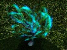 Sci Fi Tree with light cloudly foliage, Copy, 2 Prims