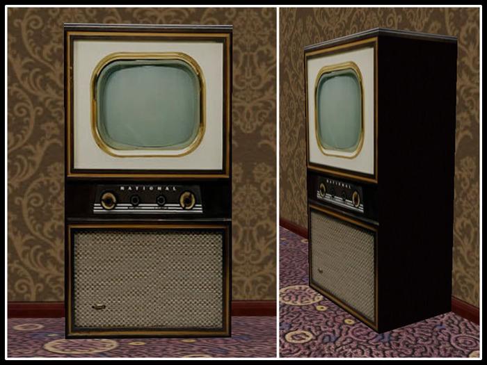 Old Television Set Vintage Tv Cabinet