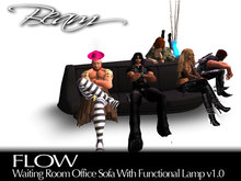 BEAM - FLOW - Waiting Room Office Sofa Couch w/Functional Lamp v1.0
