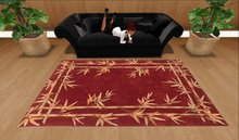 Bamboo Red Floral Rug