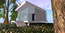 Designer Prims Modern Summer Beach Cabin, House, Prefab