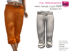 FULL PERM CLASSIC MESH Ladies Black Gray Orange Capri Pants 3 Textures 4 Sizes