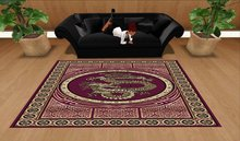 Chinese Dragon Rug, Red