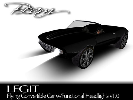 BEAM - LEGIT - Flying Convertible Car (Black) v1.0