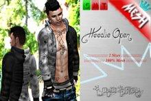 .:: MESH Hoodie Open ::.[BuFu] Fash**Black/Gray